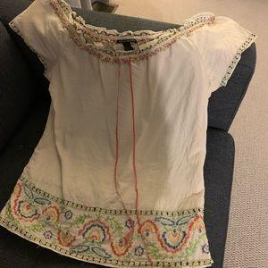 Lucky Brand lightweight, embroidered top